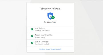 Google's Security Checkup and the Email Alerts Coming from It screenshot