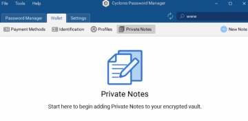 How to Generate and Protect Your Private Notes with Cyclonis Password Manager screenshot