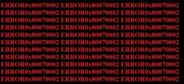 How to fix Windows Error Code 0x80070002 screenshot