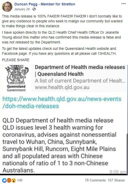 covid-19 australian fake outbreak mp map