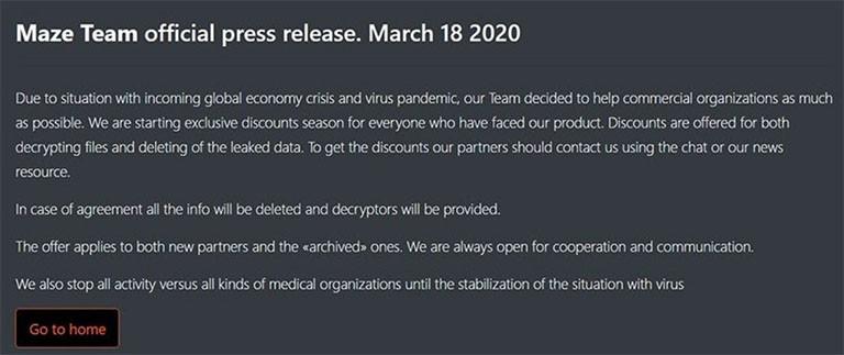 maze team release promise