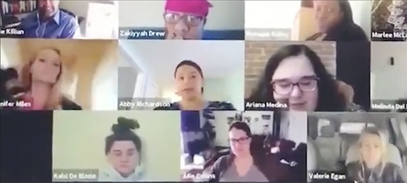 Woman Who Forgets to Turn Off Camera Gets Caught Using Toilet During Work Video Conference Call screenshot