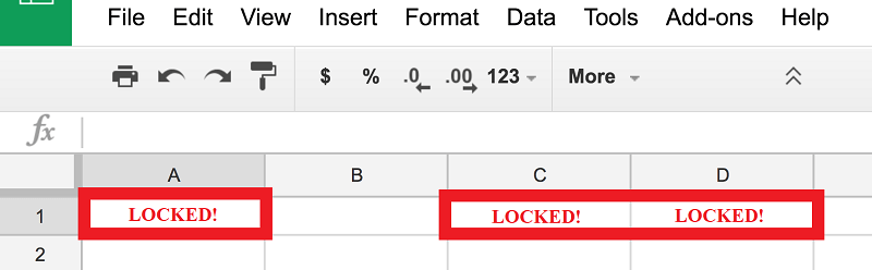 How to Protect or Lock Certain Cells in Google Sheets screenshot
