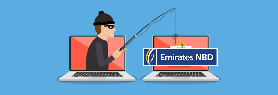 Phishing Scam Alert - Fake Emirates Nbd Bank Payment Notification Aims at User's Password screenshot