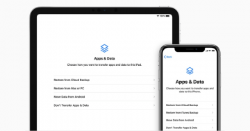 What is the Apps and Data Screen on iPhone and How to Use It screenshot