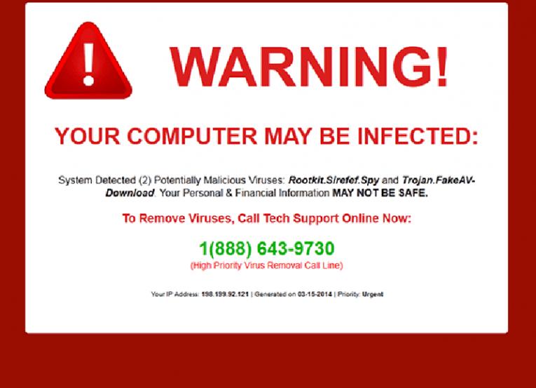 Google Redirect Virus example ad 2