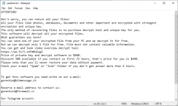 Rimuovere Bopador ransomware screenshot