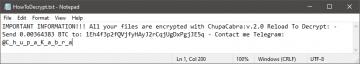 Supprimer ChupaCabra Ransomware screenshot