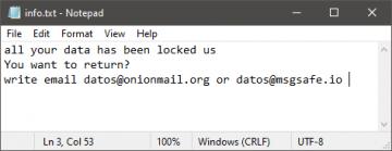 DT Ransomware verwijderen screenshot