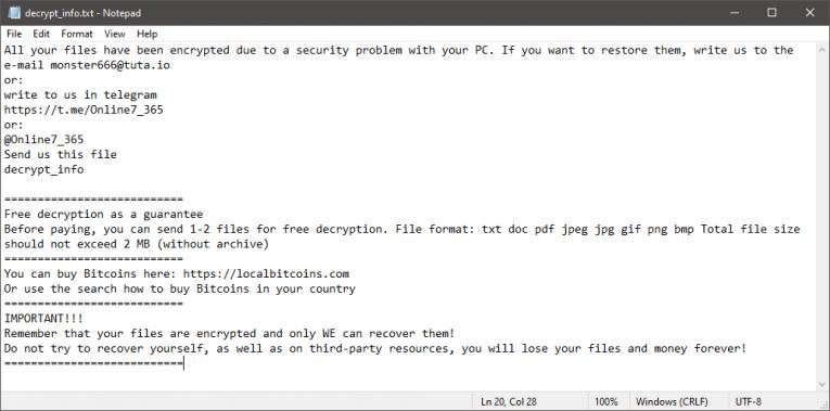 Boooom Ransomware Ransom Note