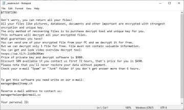 Rimuovere Rig Ransomware screenshot